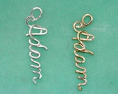 Personalized Belly Ring Charm in Gold or Sterling Silver