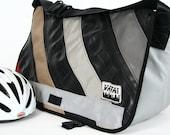 Standard Wide Bike Tube & Canvas Striped Messenger Bag