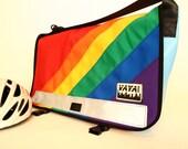 Standard Rainbow Messenger Bag - Multicolored Canvas