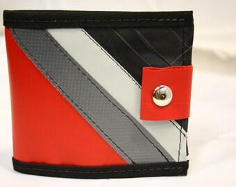 Vinyl Striped Wallet