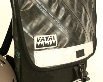 Recycled Bike Tube Backpack with Reinforced Bottom