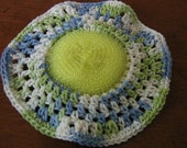 dish cloth with scrubber