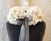 Cowl Couture - The Exponential Neck Ruffle - Wearable Fiber Art - One of a Kind - Ready to Ship