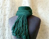 Front Porch Scarf - Fringe - Pine Green