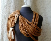 Chains That Bind Scarf - The Nostalgia Series - Wearable Fiber Art by Fringe