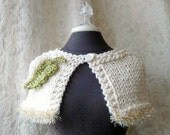 Razzle Dazzle Capelet - Hand  Knit - Ready to Ship