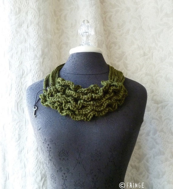 Bustle Collar - Wild West Series. Wearable Fiber Art.
