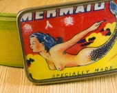 Mermaid Vintage Image Belt Buckle