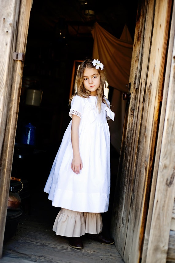 SAMPLE SALE size 6 Prairie Collection...White Knot Tie Dress Boutique Ritchie Rags