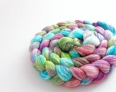 Custom Dyed Bamboo Merino Wool Roving