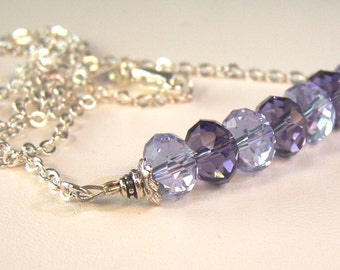 The Light and the Dark Crystal Amethyst Necklace