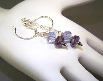 Swarovski Amethyst Earrings