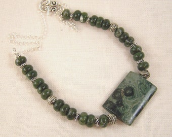 Kambaba and Stone Necklace