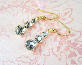 Glitz and Glitter Crystal Drop Earrings