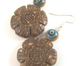 Coco Wood and the Evil Eye Earrings