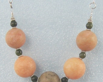 Peaches and Jades Necklace