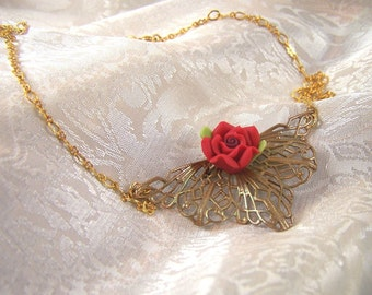Catherine's Victorian Rose Necklace