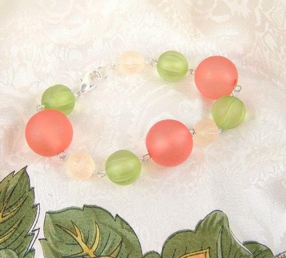 Pumpkins and Melons Beaded Bracelet
