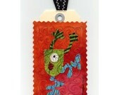 TAGit Mini Art Quilt    SERIES - Monsters No 4