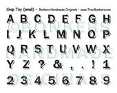 Crap Toy Alphabet Rubber Stamp Sheet (small)