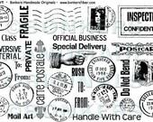 Mail Art Rubber Stamp Sheet