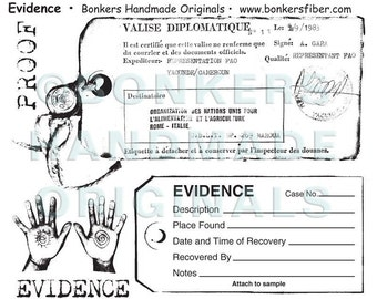 Evidence Rubber Stamp Sheet