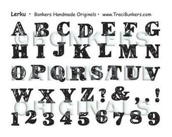 Lerku Alphabet Rubber Stamp Sheet