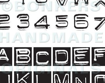 Labelmaker Alphabet Rubber Stamp Sheet