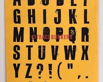 Octynaz Alphabet Rubber Stamp Sheet