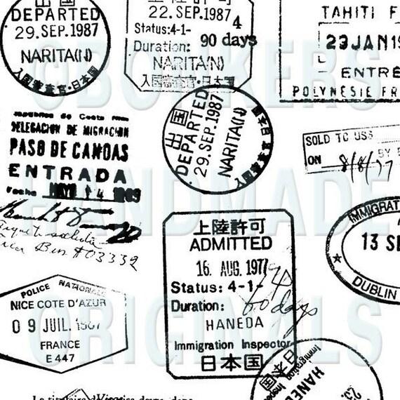 Passport Rubber Stamp Sheet