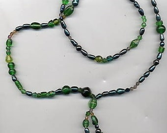 Long Forest Green Robin Hood Necklace