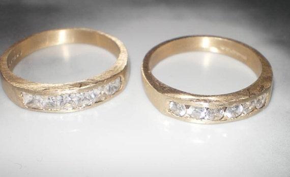 Glamourous diamond Eternity rings - 18K yellow gold , free shipping