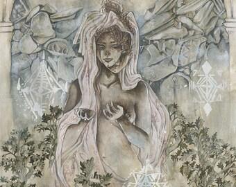 Temple Vaults - Faerie / Magical / Fantasy Art Print