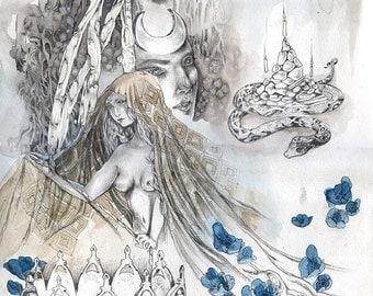 Trevia - Faery / Fantasy Painting Art Print
