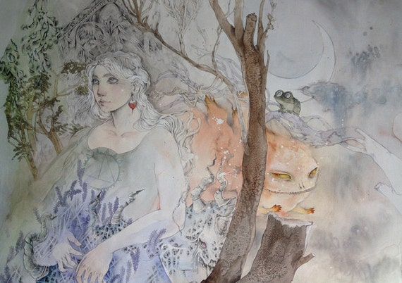 Luna Lovegood - Faerie / Magical / Fantasy Art Print