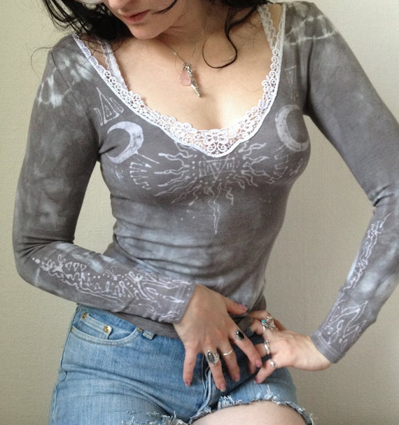 Lace Alchemy Women's Fitted LS Top