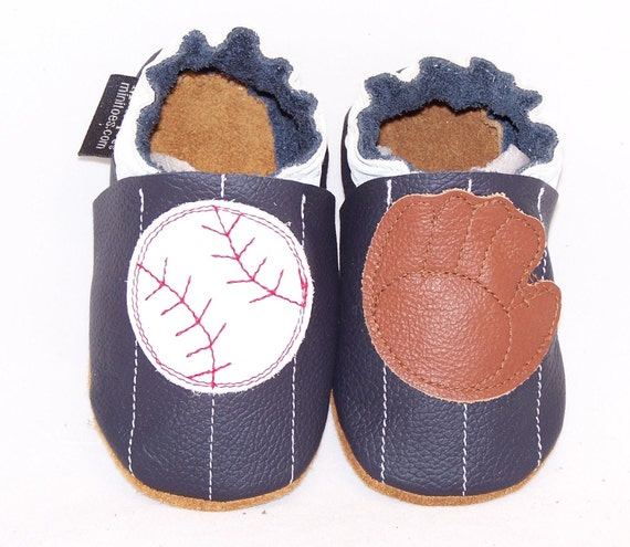 Mini Toes soft sole leather BABY shoes baseball pick your size
