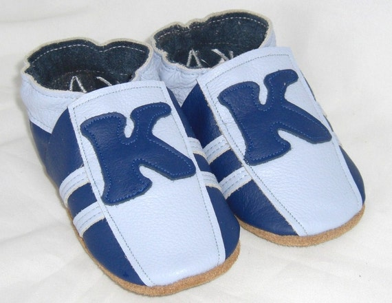 Custom design Mini toes soft sole leather BABY crib shoes  pick your size