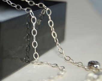 25 inch OVAL Link Sterling Silver Chain