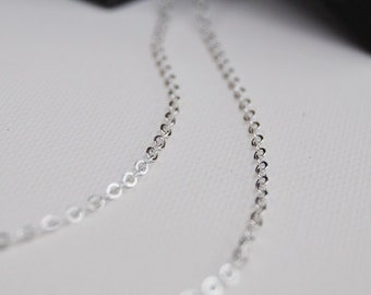 16 Inch SMALL OVAL Link Sterling Silver Chain