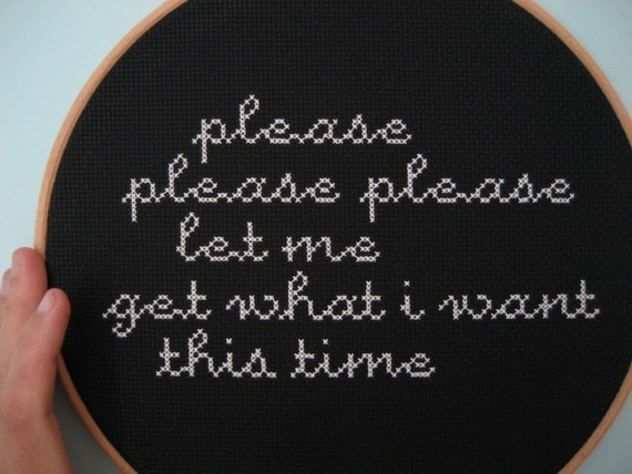 smiths please please please... cross-stitched