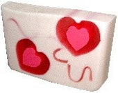 Cotton Candy Heart Soap
