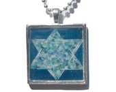 Star of David Pendant - Jewish Star Necklace, Hanukkah Gift, Star of David Necklace, Jewish Jewelry, Art Pendant by Claudine Intner - claudine