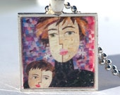 Autism Mom Pendant Autism Awareness by Claudine Intner