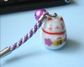 Lucky cat cell phone charm (Click for more)