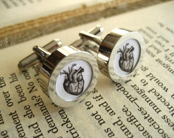 Mens Cufflinks The Heart