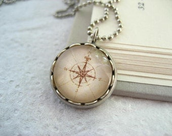 Petite Map Compass Necklace