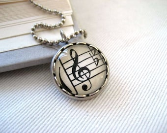 Petite Music Pendant Necklace