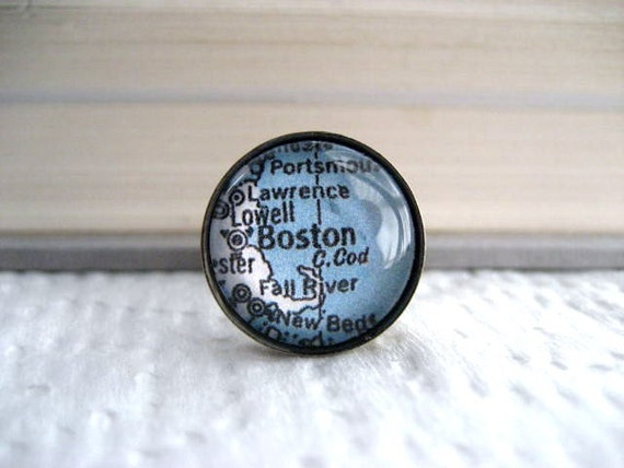 RESERVED Map Tie Tack Boston
