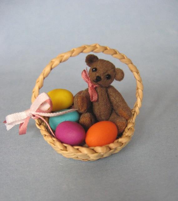 Tiny Miniature Artist Bear Easter Teddy Bear
